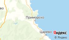 Частный сектор города Приморско на карте