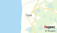 Отели города Гдов на карте