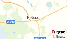 Гостиницы города Изборск на карте