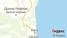 Гостиницы города Шкорпиловци на карте