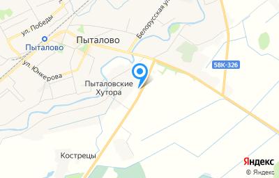Местоположение на карте пункта техосмотра по адресу Псковская обл, г Пыталово