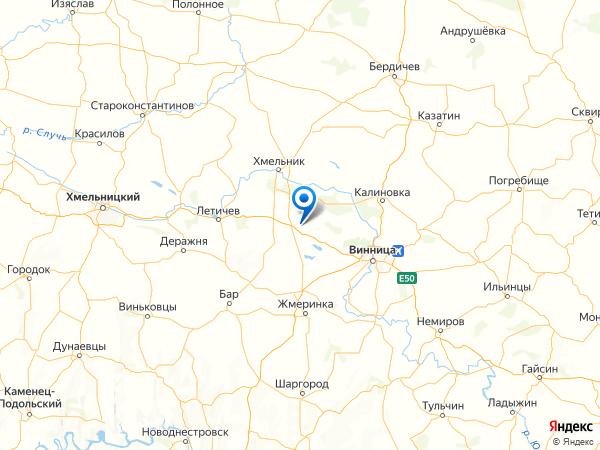 село Сосны на карте