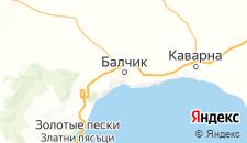 Отели города Балчик на карте