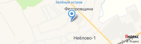 Нееловский на карте Фёдоровщиной