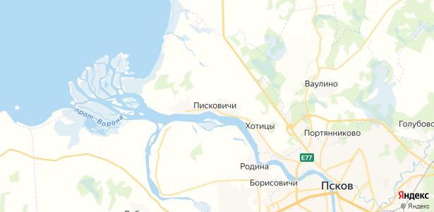 Писковичи на карте