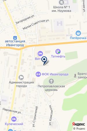 СТРАХОВОЕ ОБЩЕСТВО РУСЬ на карте Кингисеппа