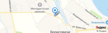 Авто Квидр на карте Борисовичей