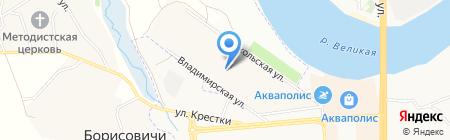 Санрост сантехник на карте Борисовичей