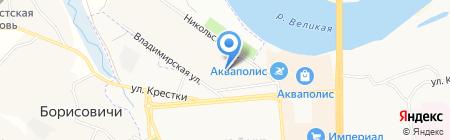 Сити на карте Борисовичей