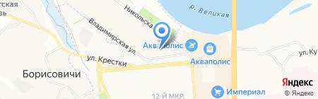 Салон красоты на Владимирской на карте Борисовичей