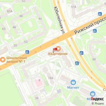 г. Псков, просп. Рижский,70А на карта