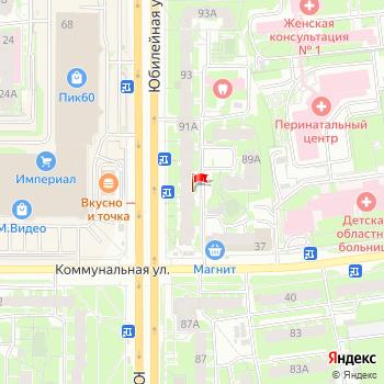 г. Псков, ул. Юбилейная,89 на карта