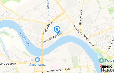 Местоположение на карте пункта техосмотра по адресу г Псков, ул Алмазная, д 4А