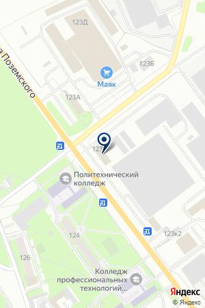 АВТОБУСНЫЙ ПАРК ПСКОВПАССАЖИРАВТОТРАНС на карте Пскова