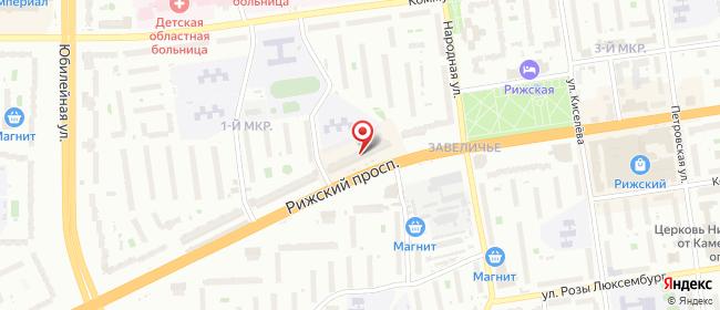 Карта расположения пункта доставки Ростелеком в городе Псков