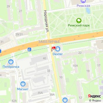 г. Псков, ул. Народная, на карта
