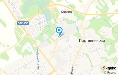 Местоположение на карте пункта техосмотра по адресу Псковская обл, Псковский р-н, д Котово, ул Ваулиногорское шоссе, д 1001