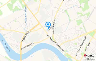 Местоположение на карте пункта техосмотра по адресу г Псков, ул Леона Поземского, д 111