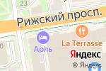 Схема проезда до компании Tony Perotti в Пскове