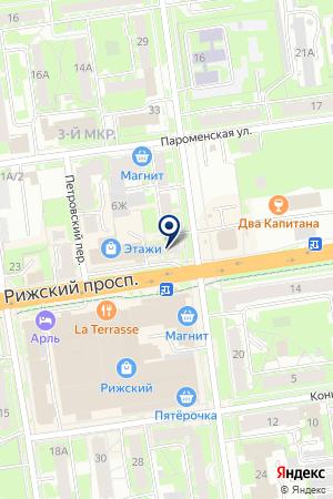 ЛАМА на карте Пскова