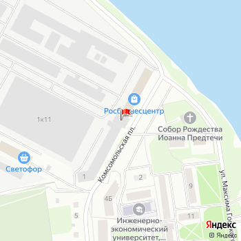 г. Псков, ул. Горького,1 на карта