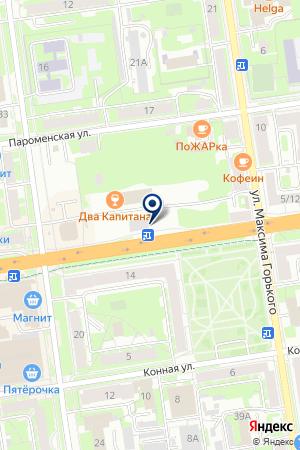 МИНИ-РЫНОК ФАВОР на карте Пскова