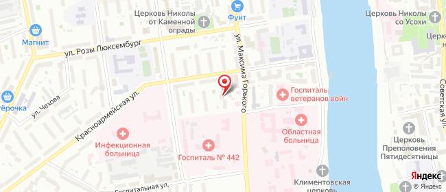 Карта расположения пункта доставки Псков Максима Горького в городе Псков
