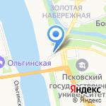 Приказная палата на карте Пскова