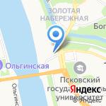 Соцтурпроф на карте Пскова
