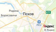 Гостиницы города Псков на карте