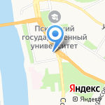 Алмаз на карте Пскова