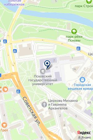 РАДИОСТАНЦИЯ СЕДЬМОЕ НЕБО на карте Пскова