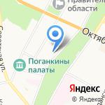 Арбитражный суд Псковской области на карте Пскова