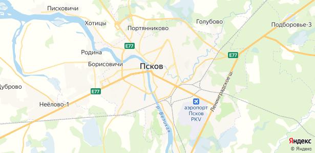 Псков на карте