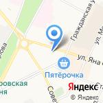 Шафран на карте Пскова