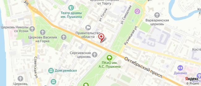 Карта расположения пункта доставки 6002 Постамат ОМНИСДЭК в городе Псков