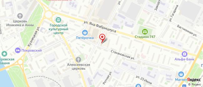 Карта расположения пункта доставки Псков Металлистов в городе Псков