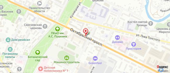 Карта расположения пункта доставки DPD Pickup в городе Псков