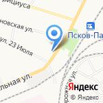 Ecolines на карте Пскова