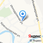Воздушный замок на карте Пскова