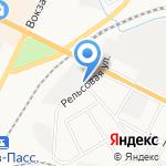 Псковский городской молочный завод на карте Пскова