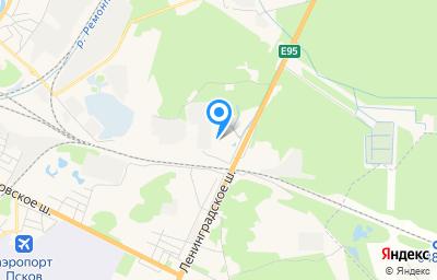 Местоположение на карте пункта техосмотра по адресу г Псков, ш Зональное, д 48