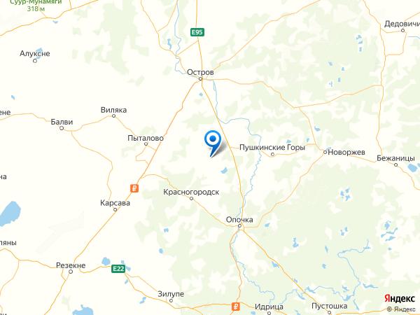 деревня Борисово на карте