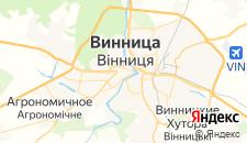 Гостиницы города Винница на карте