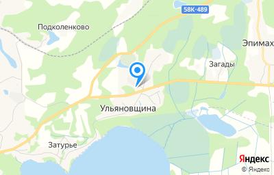 Местоположение на карте пункта техосмотра по адресу Псковская обл, Себежский р-н, д Ульяновщина, ул Ленинская