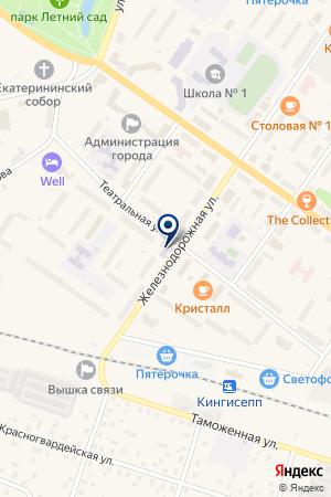 МЕБЕЛЬНЫЙ МАГАЗИН ТИНГА на карте Кингисеппа
