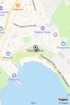 БАЗА ОТДЫХА КЕРОРТ на карте Приморска