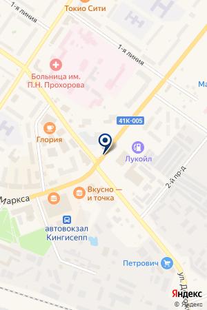 АТЕЛЬЕ КРАСНОЕ ЗНАМЯ на карте Киришей