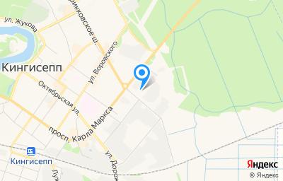 Местоположение на карте пункта техосмотра по адресу Ленинградская обл, г Кингисепп, проезд 4-й, д 1