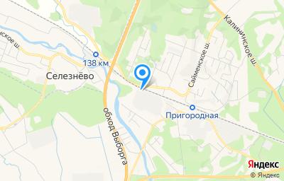 Местоположение на карте пункта техосмотра по адресу Ленинградская обл, г Выборг, ш Хельсинское, д 3